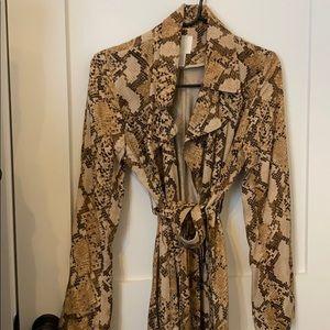 HM Snake Print Trench Coat